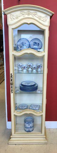 French Provincial Vintage Curio Cabinet