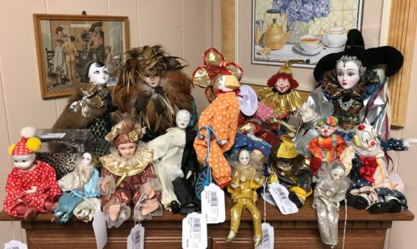 Vintage Jester Clown Dolls and Clown Dolls Priced Separate