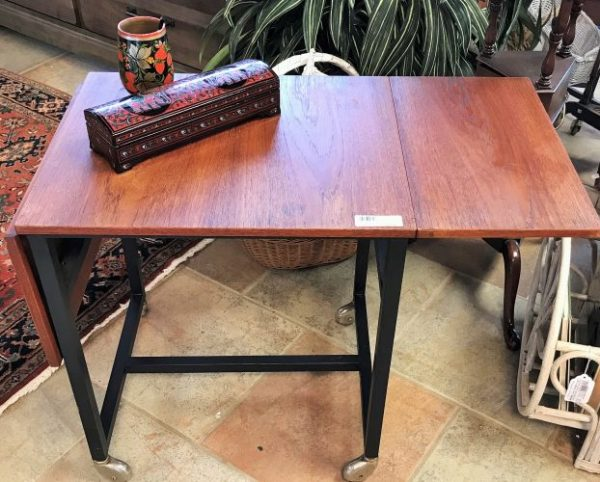 Vintage Mid Century Modern Danish Typewriter Table