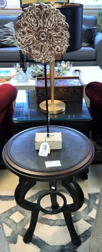 Maitland Smith Hammered Metal Top Side Accent Table