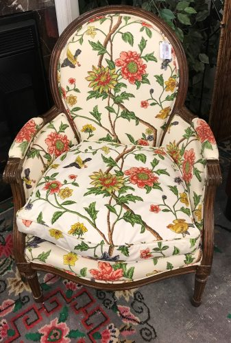 Vintage Down Custom Louis XV Style Accent Chair