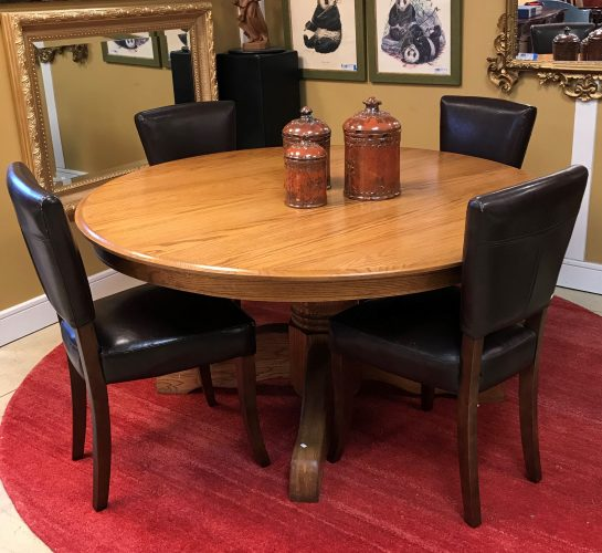 Round Pedestal Dining Room Table