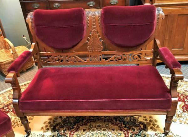 Antique Settee ~Accent Chair And Arm Chair Priced Separate