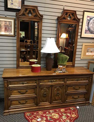Vintage Dresser With Mirrors