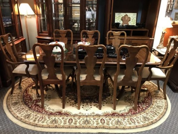 Cherry Dining Room Table and Chairs