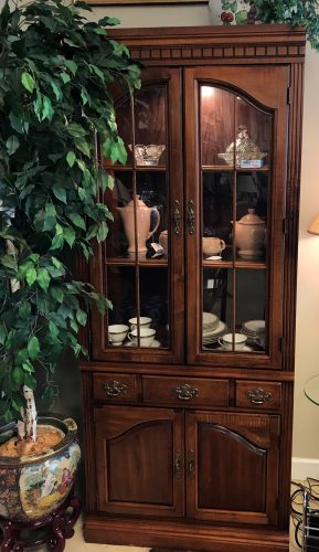 Vintage Hooker Display Cabinet