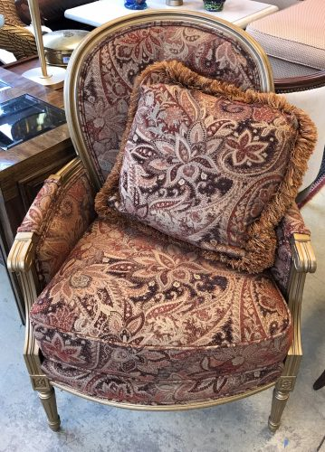 Accent Arm Chair With Pillow