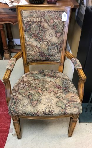 Geographic Accent Chair