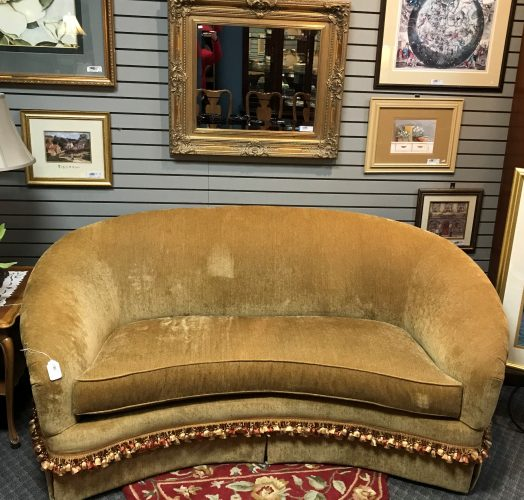 Drexel Heritage Curved Sofa Couch