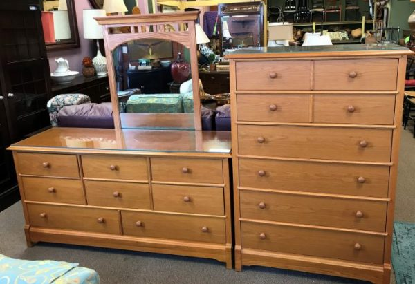 Tall Dresser And Full Dresser With Mirror Priced Separate