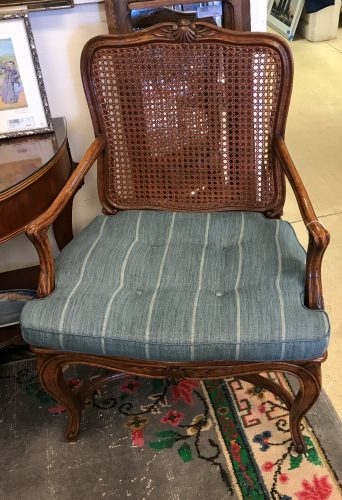 2-Vintage French Provincial Open Armchairs Sold Separate