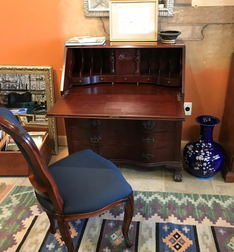 Governor Winthrop Antique Mahogany Drop Front Secretary Desk And Chair Priced Separate