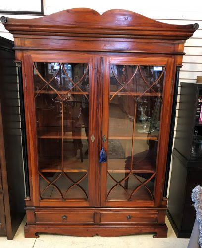 2-Rough Sawn Mahogany Bookcases Sold Separate
