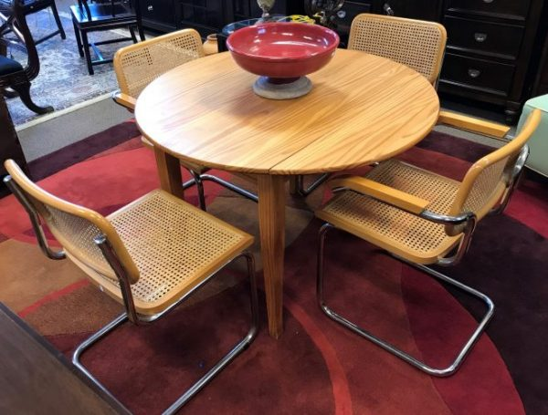 Set Of Four MCM Marcel Breuer Reverse Cantilever Chairs And Table Sold Separate