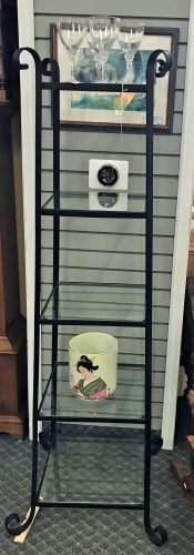 Contemporary Iron And Glass Etagere