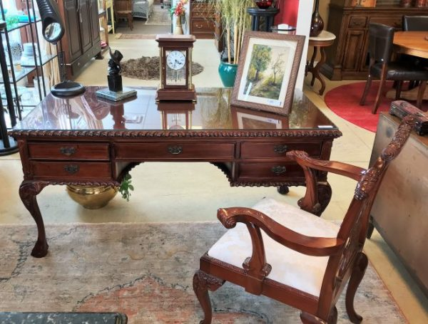 Chippendale Style Desk And Chair Priced Separate