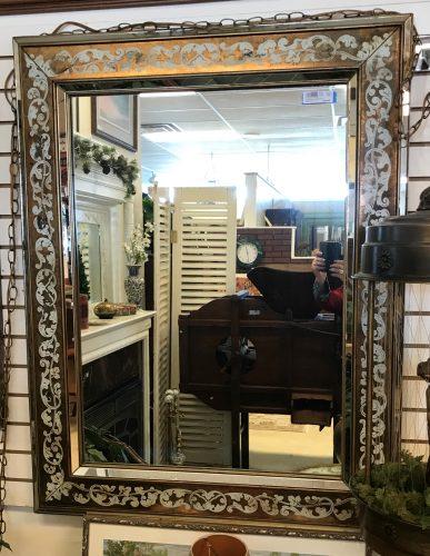 Antique Reverse Mirror