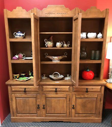2 Piece Rustic Cupboard Cabinet
