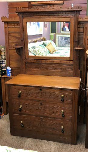 Antique Eastlake Dresser With Mirror