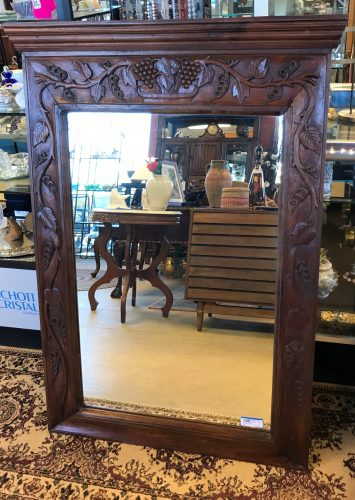 Rustic Carved Wall Mirror