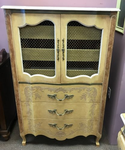 Vintage French Provincial Headboard-Chests And Night Stands Sold Separate