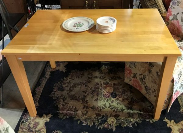 Blonde Dining Room Table And Parsons Chairs Priced Separate