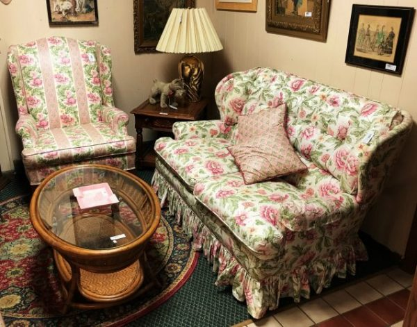 Loveseat And Wing Back Chairs Priced Separate