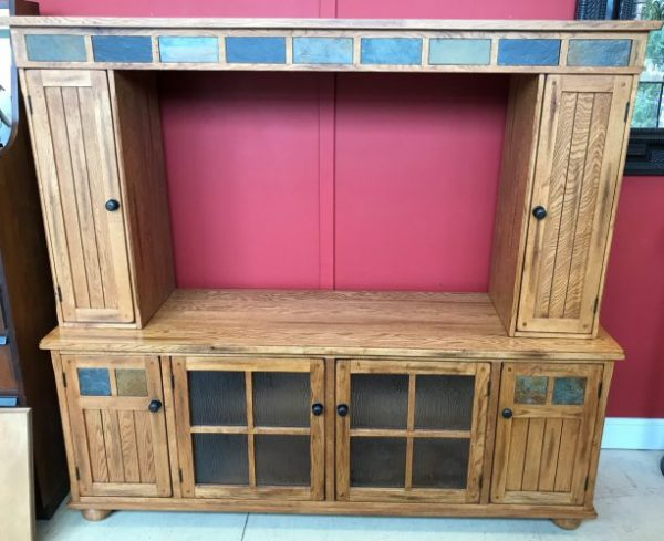 Slate Accent Entertainment Center