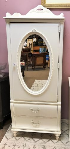 Stanley Furniture Co White Armoire With Mirror