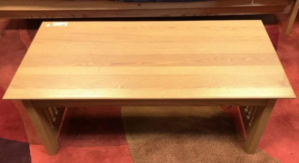 Oak Mission Style Coffee Table And Side Tables Sold Separate