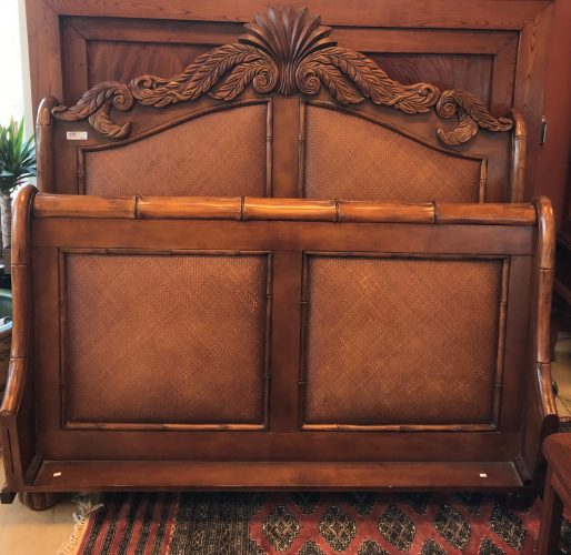 Tommy Bahama Queen Size Sleigh Bed With Rails