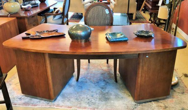 Vintage Curved Executive Desk