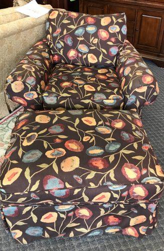 Modern Custom Arm Chair And Ottoman