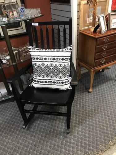Tundall Creek Black Rocking Chair