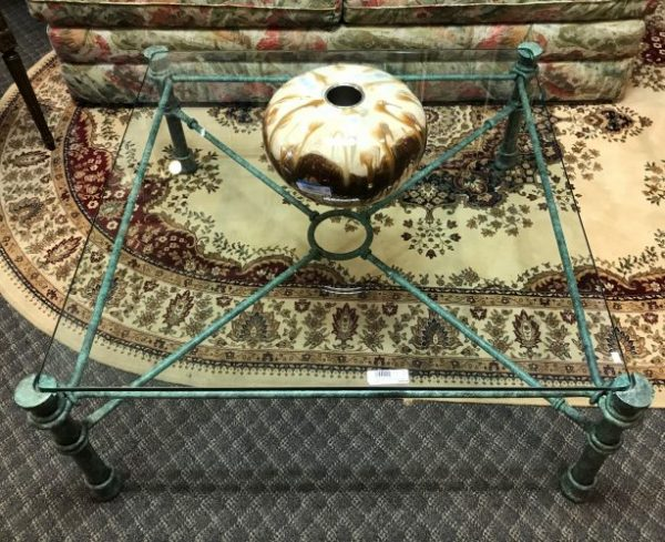 Italian Wrought Iron Coffee Table And Console Table Sold Separate