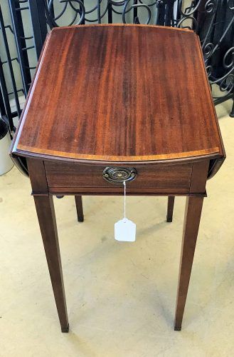 2-Antique Pembroke Drop Leave Side Tables With Drawer Sold Separate