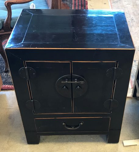 2-Asian Black Lacquer Storage Cabinets Sold Separate