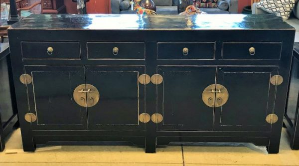 Asia Black Lacquered Buffet As Is