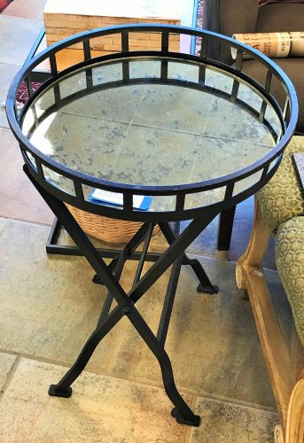 Arhaus Mirrored Folding Accent Table