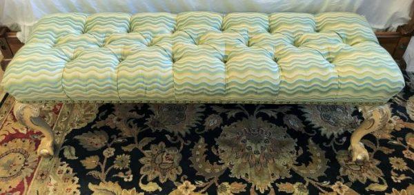 Custom Tufted Bench