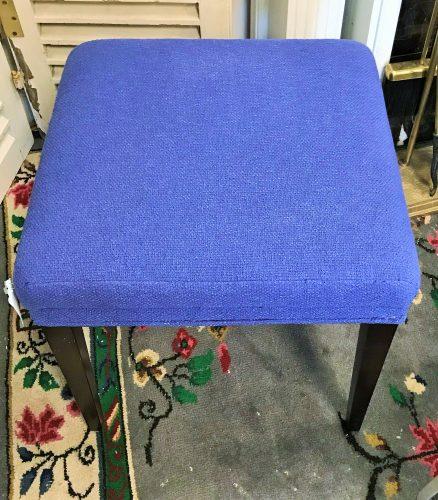 Blue Periwinkle Foot Stools Sold Separate