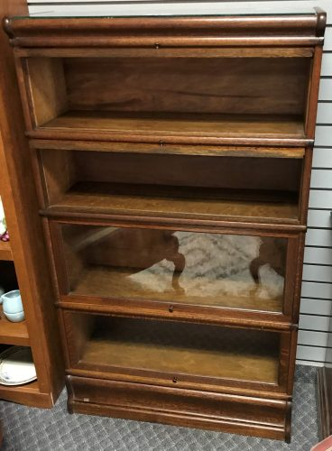 Antique Tiger Oak Barrister Cabinet