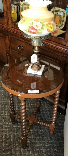 Antique Barley Twist Accent Table