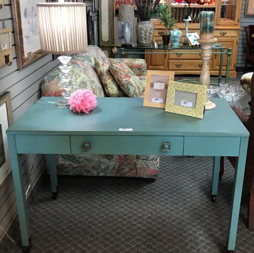 Modern Teal Desk