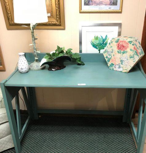 Modern Teal High Top Desk