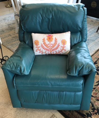 Green Leather Recliner Chair
