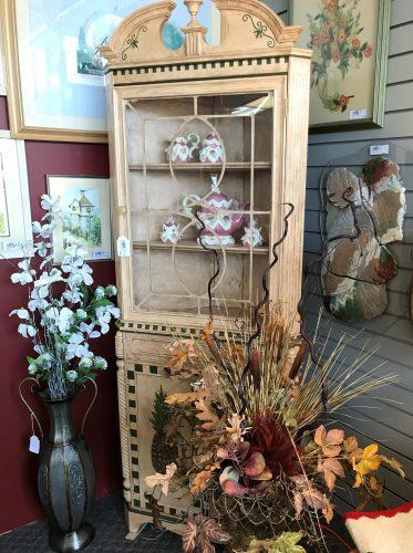 Decorative Vintage Corner Cabinet