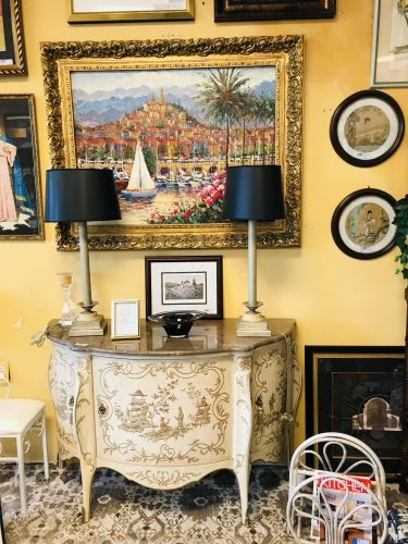 Heritage Grand Tour Marble Top Console