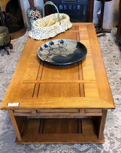 Mission Style Oak LIFT Coffee Table