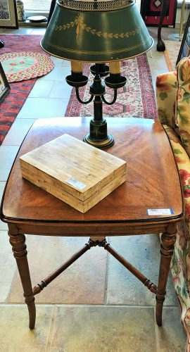 Vintage Burled Side Table